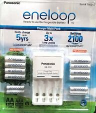PANASONIC ENELOOP RECHARGE BATTERY CHARGER + 8 AA + 4 AAA BATTERIES NIMH