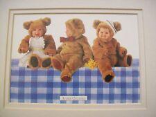 Anne Geddes Baby Teddy Bear Matted Art Nursery Print
