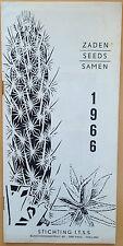 Zaden seeds samen 1966 CACTUS BOOK KAKTUS seeds nursery catalogue preis-liste