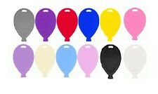 PLASTIC BALLOON SHAPED WEIGHT FOIL LATEX HELIUM BALLOONS - 14 COLOUR OPTIONS RED