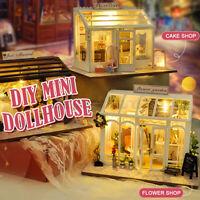 DIY Miniatur Haus Puppenhaus Holz Puppenstube Dollhouse Puppenmöbel Geschenk Set