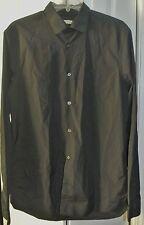 BURBERRY BRIT BLACK DRESS SHIRT SZ LG
