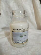 Yankee Candle Fluffy Towels Large Jar Classic Label - NEW