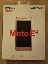 "New in Box Verizon Motorola Moto E4 XT1765 4G LTE 5"" 16GB (gold)"