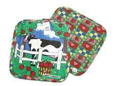 Farm Cow Apples Patch Pattern Pot Holder (Includes 2 Pot Holders)