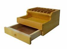 """3-3/4"""" x 6-1/2"""" x 7-1/2"""" Wooden Plier Rack Organizer Drawer Jewelry Tool Storage"""