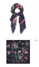 NWT We Are Owls Scarf , Silk/ Cashmere , Sweet, Navy