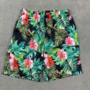 Mr. Bao Long & Miss Go Men's Shorts Medium Floral Stretch Flowers Polyester