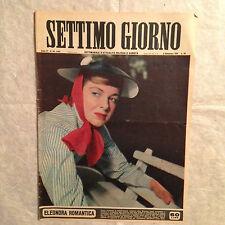 RIVISTA SETTIMO GIORNO 36 9/1951 ELEONORA ROSSI  ACHIRA CUROSAWA M. DEL FICO
