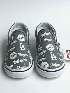 Vans Classic Slip On MLB Los Angeles Dodgers Baby Shoes #8 NWB