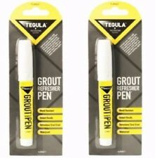 2  x Tile Grout Whitening Pen Refresher White Kitchen Shower Bathroom Paint
