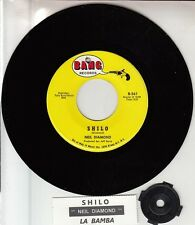 "NEIL DIAMOND  Shilo & La Bamba 7"" 45 rpm vinyl record + juke box title strip NEW"