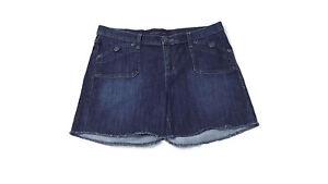 Rock & Republic Womens Fringed Hem Denim Jean Shorts Size 16  Nice Shorts