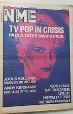 NME 7 MARCH 1987 - PAULA YATES, JOOLS HOLLAND, ANDY KERSHAW, AGE OF CHANCE