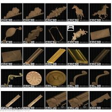 180+ CNC 3D Relief Models 3 DISC Combined SET NEW & Factory Sealed STL DXF EPS