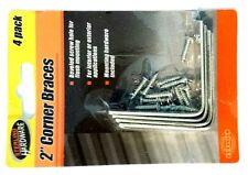 "2"" Corner Braces 4Pk Steel Mending Plates Right Angle Interior Exterior Hardware"