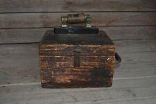 Vintage Western Railroad Supply Co Arrester Wood Box