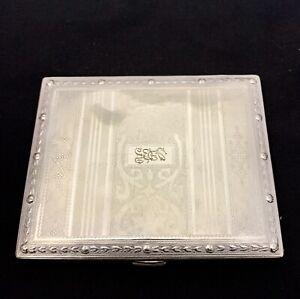 Antique Evans Nickel Silver Cigarette Case