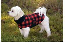 Ultra Paws Red & Black Cozy Coat Dog Jacket Outdoor Fleece, Size medium - NWT