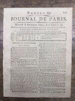 Révolte à Brest 1790 Forçat Arsenal Marine Journal Révolution Française