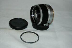 Canon 1.8/50 mm Rangefinder Lens. 39mm Screw Mount (LTM) Caps. 296273. UK Sale
