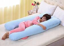 Large U Shaped Contoured Body Pregnancy Nursing Maternity Pillow Cozy Comfort