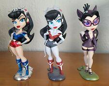Dc Bombshells lot of 3 Wonder Woman Noir & Platinum + Catwoman Cryptozoic