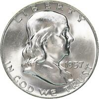 1957 Franklin Half Dollar 90% Silver BU US Coin