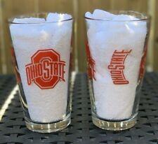Ohio State Buckeyes NCAA Gameday Collectible 16 oz Pint Beer Glass Set of 2 🏈🏀