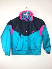 Vintage Mens Sz 40 Nevica Survival Ski Jacket Frontline Neon Color Block Hooded