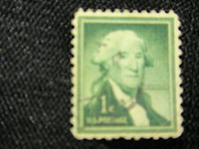 George Washington one used and cancelled 1 cent stamp