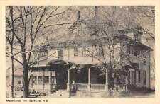 Sackville New Brunswick Canada Mashlands Inn Antique Postcard J56544