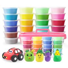 24Farben Fluffy Fluff Floam Slime Schleim für Stressabbau Baby DIY Spielzeug Kit