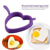 Creative Heart Shape Silicone Omelette Egg Mould Frying Pancake Tools Kit #k