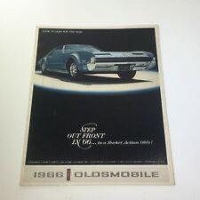 1966 Oldsmobile Step Out Front Super Rocket V8 Engine 4-4-2 Car Catalog Brochure