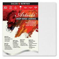 Clearance Daler-Rowney Premium Artists Canvas - 3D Deep Edge - Boxes
