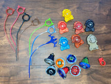 Beyblades Lot 7 Tops Launchers Rip Cords