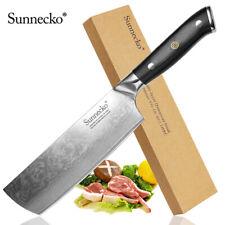 Classic 7 inch Nakiri Vegetables Knife Damascus Steel Kitchen Slicing Cut Pro