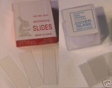 Blank Microscope 100 slides 100 cover glass slips 22*22