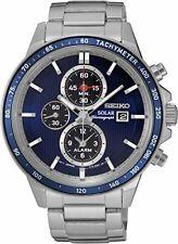 Seiko Men's Solar Chronograph Quartz Stainless Steel Watch SSC431