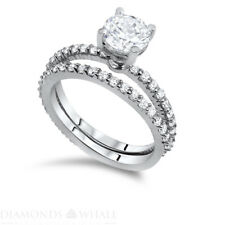 G/VS Engagement Ring 1.89 CT Round Cut 18k White Gold Bridal Enhanced Diamond