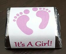 30 It's A Girl - Hershey Nugget Labels - Pink - Shower Favors - Party Favors