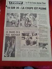 journal  l'équipe du 14/02/83 FOOTBALL COUPE DE FRANCE AUXERRE ST ETIENNE HAGLER