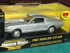ERTL 1967 FORD SHELBY MUSTANG GT350 FASTBACK SILVER/WHITE 1/18