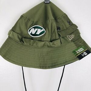 NFL New York Jets New Era Salute To Service Green Bucket Hat NWT One Size