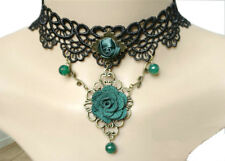Girl's Chocker clavicle Lace necklace Steampunk Gothic Collar US Christmas gift