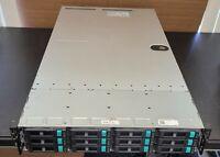 """INVENTEC K802 server 2x E5 2630 12X3.5"""" bays UNRAID IR MODE FOR FREENAS"""