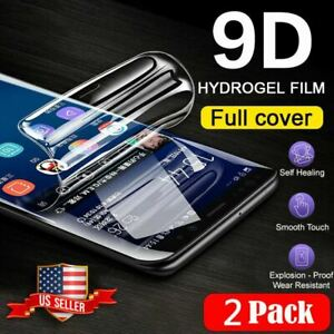 2-pack 9D TPU Hydrogel Screen Protector Samsung S20 Ultra S10 S9 S8 Plus Note 20