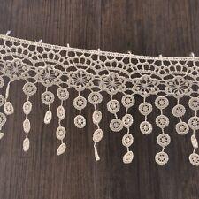 15yards 8cm Fabric Beige Lace Applique Trim Sewing DIY Curtain Crafts Wholesale