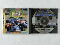 F1 Live Information SS Sega Saturn From Japan